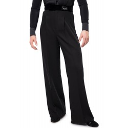 Sasuel Latin Trousers 1x Pleat with Velvet Binding