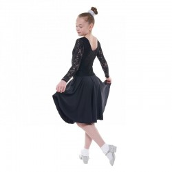 Tappers & Pointers BALLROOM/7 Long Sleeve Standard Length Ballroom Dress with Lace Overlay