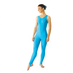 Tappers & Pointers Sleeveless Catsuit Plain Front (Stirrup) - Girls