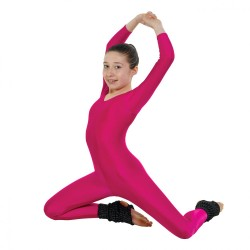 Tappers & Pointers Long Sleeve Catsuit Plain Front (Stirrup) - Girls