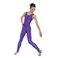 Tappers & Pointers Sleeveless Catsuit Ruched Front (Stirrup) - Girls