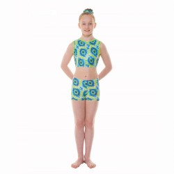 Tappers & Pointers Coral Childrens Crop Top and Hipster Shorts