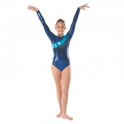 Tappers & Pointers Astro Shine Long Sleeve Leotard (Size 3 & 4)