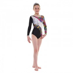 Tappers & Pointers Astro Foil Long Sleeve Leotard