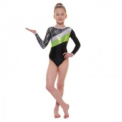 Tappers & Pointers Cascade Long Sleeve Leotard (Size 3 & 4)