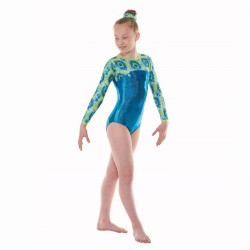 Tappers & Pointers Coral Long Sleeve Leotard (Size 3 & 4)