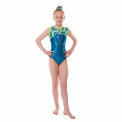 Tappers & Pointers Coral Sleeveless Leotard (Size 3 & 4)