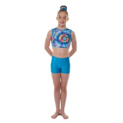 Tappers & Pointers Turquoise Hologram Shine Childrens Hipster Shorts