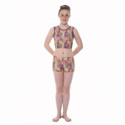 Tappers & Pointers Rainbow Childrens Crop Top and Hipster Shorts