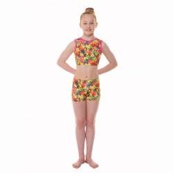 Tappers & Pointers Starburst Childrens Crop Top and Hipster Shorts
