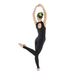 Tappers & Pointers Turtle Neck Sleeveless Catsuit (Stirrup)