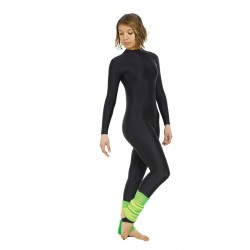 Tappers & Pointers Turtle Neck Long Sleeve Catsuit (Stirrup) - Girls