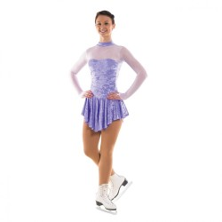 Tappers & Pointers Turtle Neck Keyhole Back Skating Dress (Glittermist) - Girls