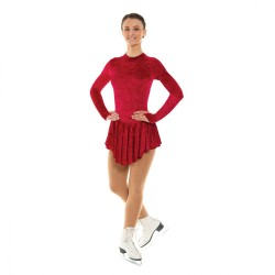 Tappers & Pointers Turtle Neck Keyhole Back Skating Dress (Crushed Velvet)