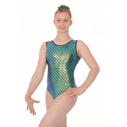 The Zone Azalea Sleeveless Foil Print Leotard (Size 34-38)