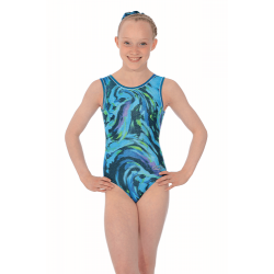 The Zone Breeze Sleeveless Foil Print Leotard (Size 34-38)