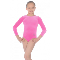 The Zone Classic Long Sleeve Smooth Velour Leotard (Size 24-32)