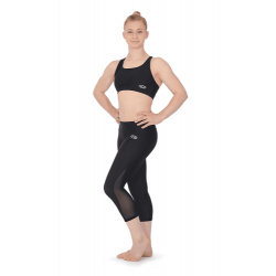 The Zone Matt Capri Leggings with Mesh Panels (Size 24-32)